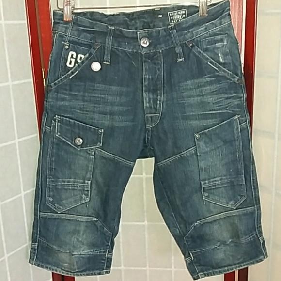 Tidssvarende G-Star Shorts | Gstar Raw Denim Dark Cargo Size 28 | Poshmark BU-96